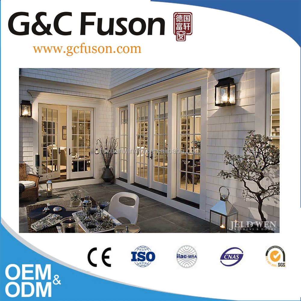 White aluminum used decorative front double swing airtight door design