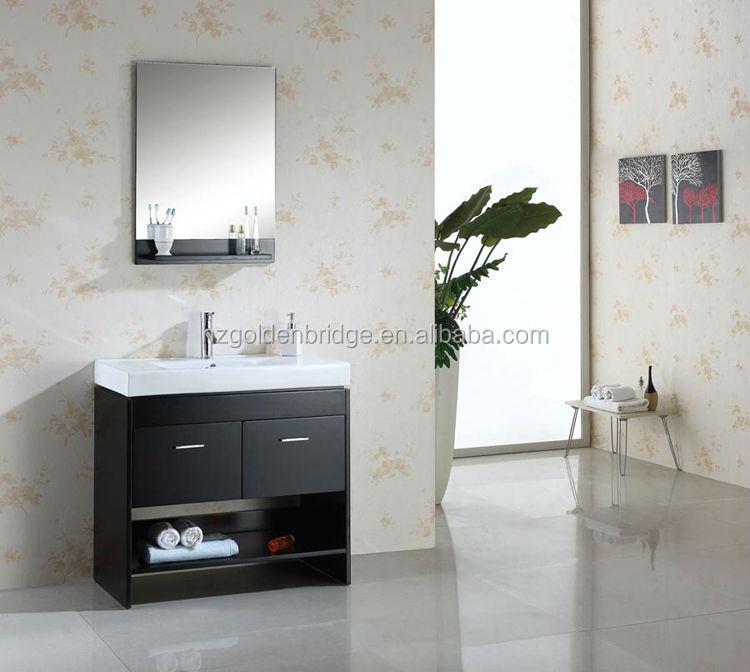 35'' Modern Black Bathroom Vanity