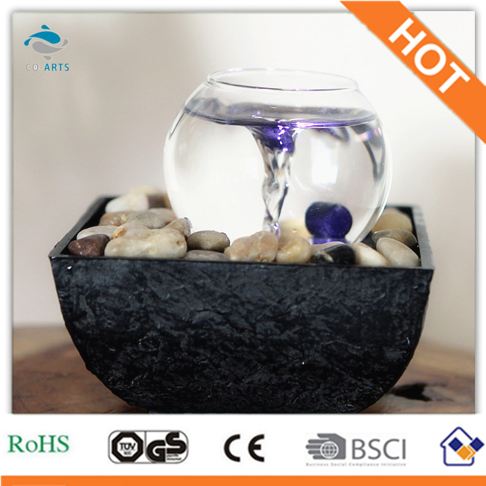 new product glass ball with water vortex table fountain