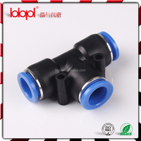 (Tee PUT)plastic plastic sleeve plastic body,pneumatic fittings ,plasitc pipe fitting