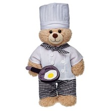 2017 Top selling products Chef Hat Bear plush toy shipping from china