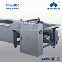 2015 Zhengrun FD-SJ600 adjusting speed hot melt glue gluing machine CE