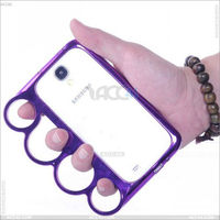 Knuckle ring case hard protector case cover for Samsung Galaxy S4 I9500 P-SAMI9500HC024