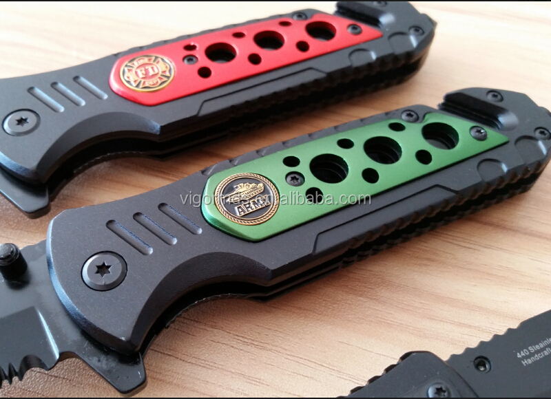 "(PK-R14108) 4.5"" Various Colors Rescue Survival Pocket Knife Tool"