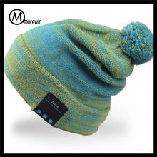 Morewin Brand cute bespoke acrylic beanie colorful bluetooth speaker hats