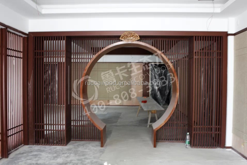 Foshan rucca wpc outdoor timber tube new design wooden for Panneau composite exterieur