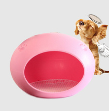 Alibaba China puppy house ellipses luxury waterproof pet bed plastic