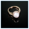 Women copper ring charming and special latest pearl ring design