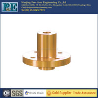 Customized hot sale top grade cnc turning brass flange bushing