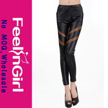 hot girls sexy black faux stretch leather leggings wholesaler