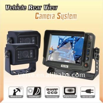 Rear View Camera System with TFT Color CMD Rear View Camera