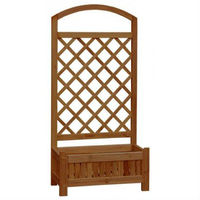WOODEN PLANTER WITH TRELLIS