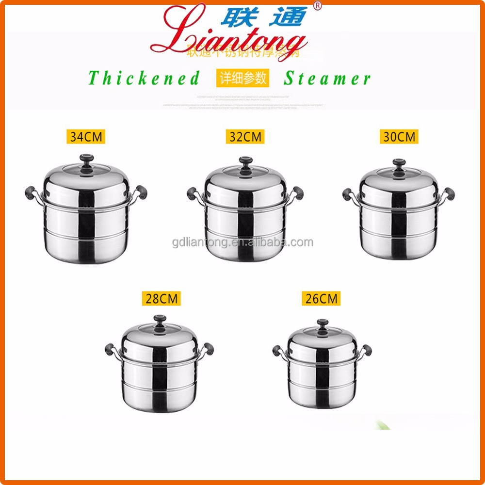 wholesale high quality 26 to 34cm gas food steamer, stainless steel vegetable steamer