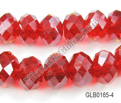 Crystal Glass Beads, Facted Rondelle