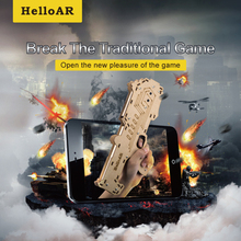 HelloAR Wood Bluetooth AR Gun for AR Shooting Games | Toy Player AR Gmae