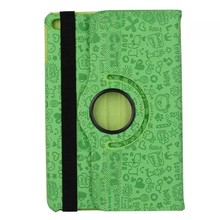 Hottest Colorful Little Witch Pattern Rotating Tablet Leather Flip Cover Case For Apple iPad Mini 4