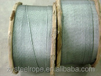 4-30mm metal cable reel, 7x7 7x19 aircraft cable,6x24 galvanized steel wire rope 21mm