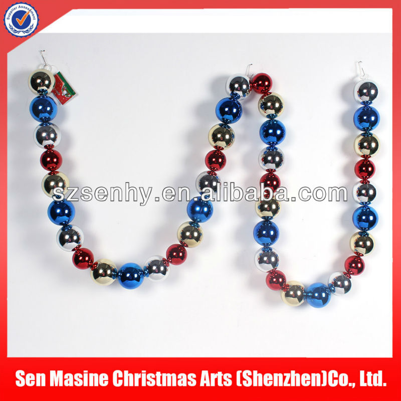 Plastic ball string 2013 christmas decoration and gift factory
