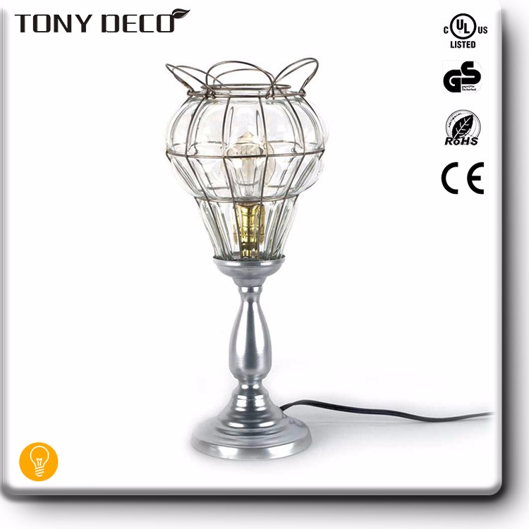 Turkish Handmade Glass Trophy Table Lamp For Home Decoration