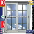 Aluminium Sliding Window System with sliding flyscreen and decorative grills