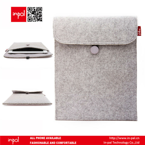 New product wool felt cover case for ipad2/3/4 with button closure by shenzhen manufacturer