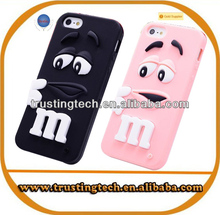 2014 fashion silicone minion 3D cartoon case for iphone 5 5S 5G