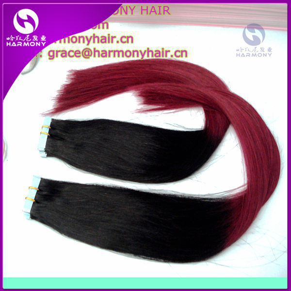 "wholesale 18""-22"" in Stock 100% remy human hair tape hair extension invisible brazilian double sided tape in hair extensions"