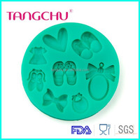 TC3597 Baby Shoes Fondant Mold Baking Decoration Silicone Silicone Baby Cake Mold