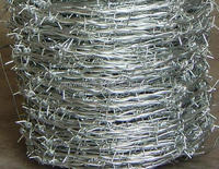 2015 Hot sale !!! 14x14 16x16 1.6 mm 2.1mm 2.5mm electric / hot dipped barbed wire fencing/common barbed wire for big sale Yaqi