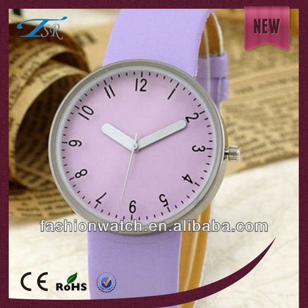 Big face leather strap trend design quartz watch ce watches for Europe