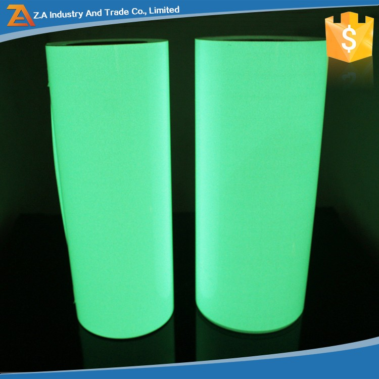 PVC Cuttable Printable self-adhesive Rigid Night Glow Photoluminescent Film