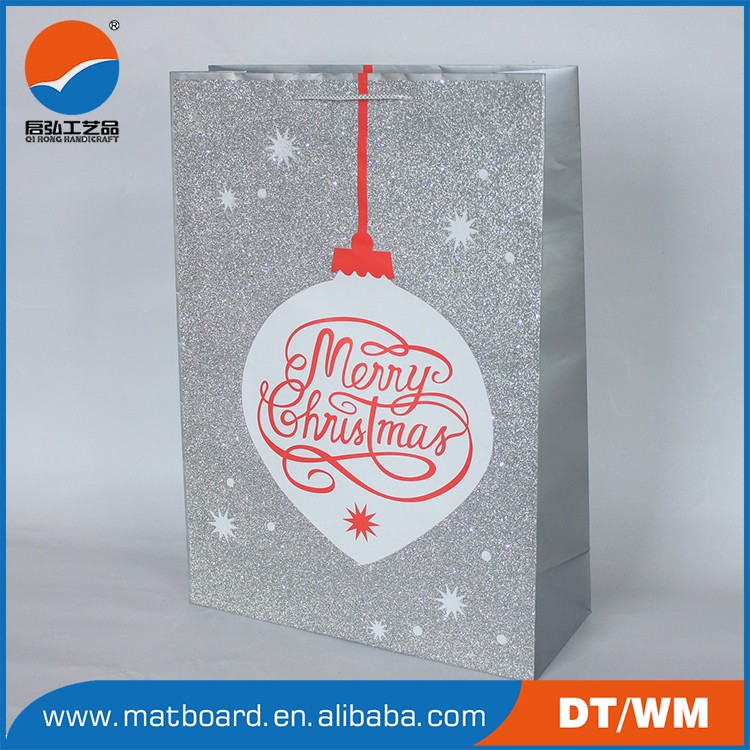 high quantity paper gift bags with handle , paper bag