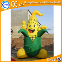 Cute design inflatable corn cartoon, inflatable model corn sale