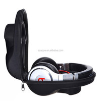 Black EVA Protecting and Carrying Hard Headphone Case for Monster Beats