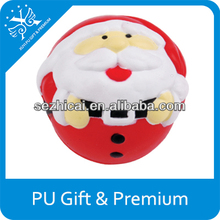 Pu stress santa claus ornamenttoy flashing squeeze toy kids foam toys
