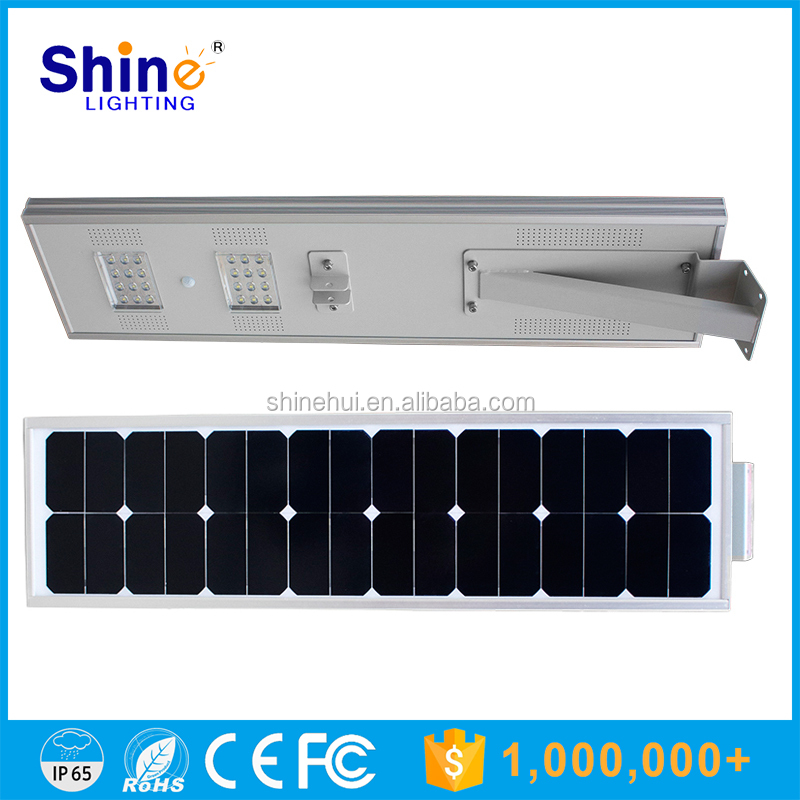 25W High power LED solar Garden retrofit Lamp / All in one integrated Solar Street Light