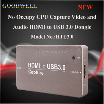 New Pocket Size Metal Case HDMI to USB 3.0 Video Capture Card support Windows Linux Android OS