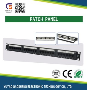 Good Quality Made in China AMP UTP Cat6 24 Port Keystone PatchPanel