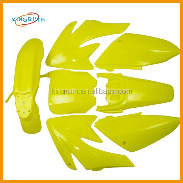 Yellow CRF PIT DIRT BIKE FAIRINGS PLASTICS CRF70 CRF 70 110cc 125cc 140cc 150cc 160cc PITBIKES
