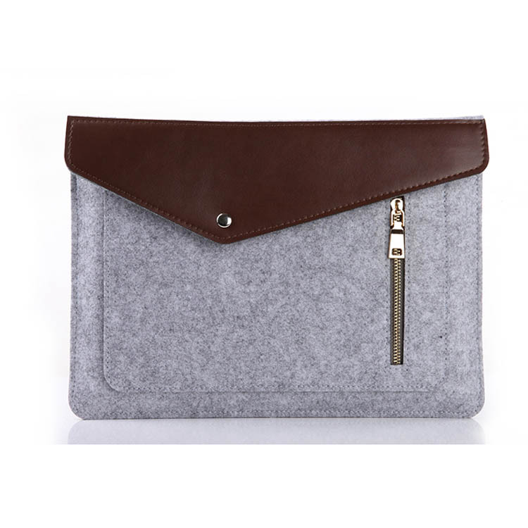 wholesale hot sale mini fashion felt 11.5 inch laptop bag