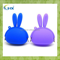 Hot sell fancy rabbit shape silicone rubber coin purse