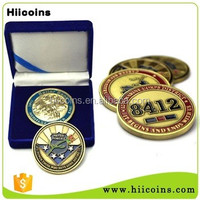Gold plating, paint folk art tourism souvenir gold coin