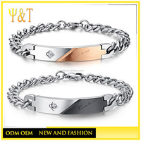 Bulk Jewelry Cheap Men And Women Chains Bracelets Close to Me Charm Bracelets for Couples Jewelry (QS-015)