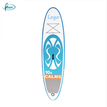 Fissot multi-colored PVC inflatable SUP surfboard for beginner