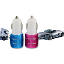 5V 1A 5V 2.1A Mobile Phone Chargers Dual USB 2 Port Car Charger + Micro USB Adapter LED Indicator Light