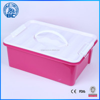 Under Bed Plastic Storage Box Container Toys Shoes Blankets Organiser with Handle
