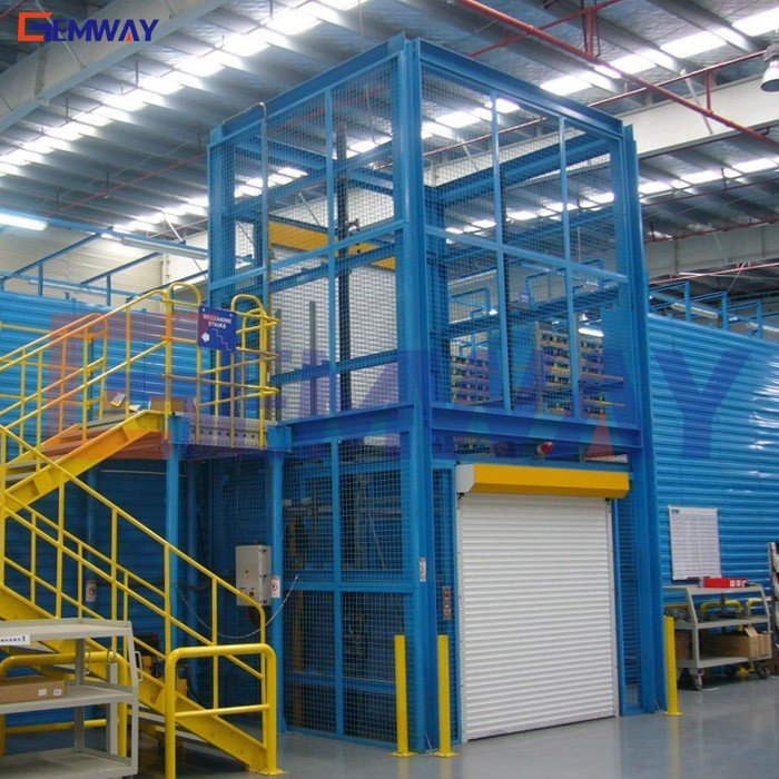 Factory supply electric goods warehouse lift platform/mezzanine lift
