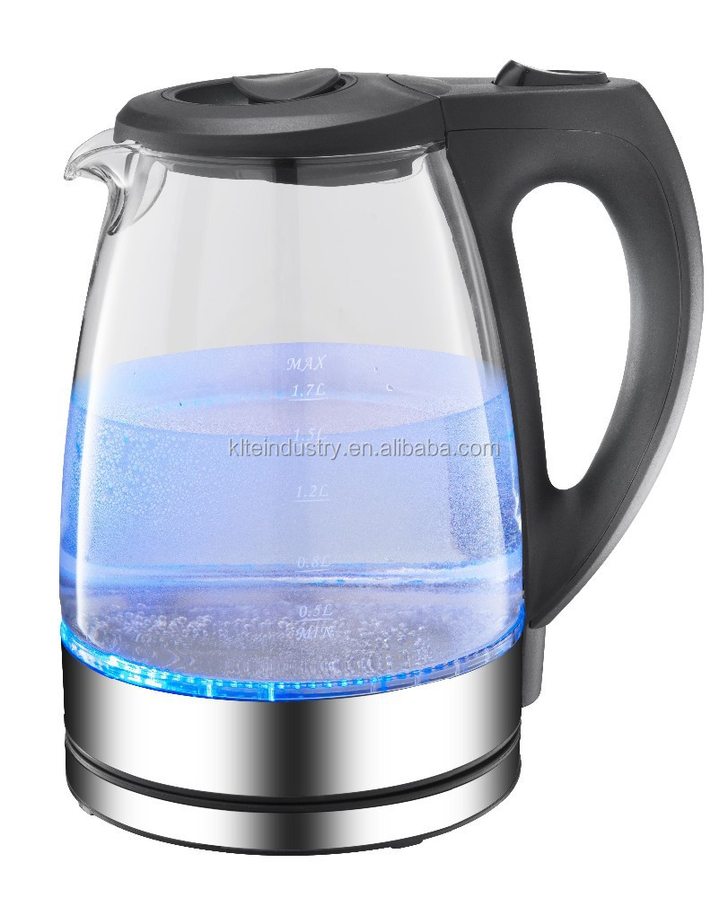 1.7L electric kettle, LED glass electric kettle, glass kettle