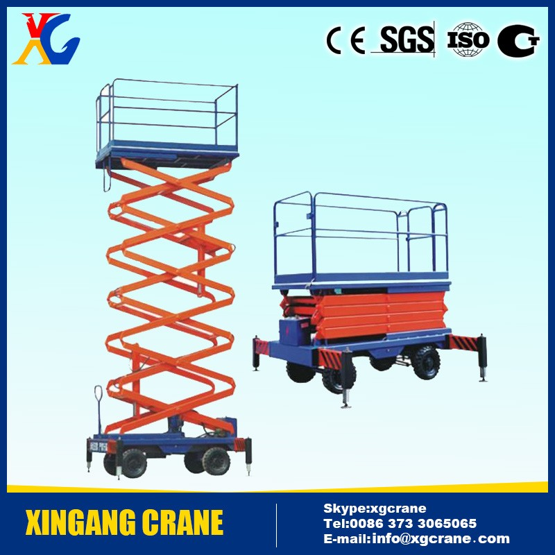 Good quality 1 - 20 ton load scissor lift platform factory price