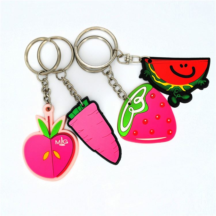 Latest arrival trendy style rubber key ring/key chain with reasonable price